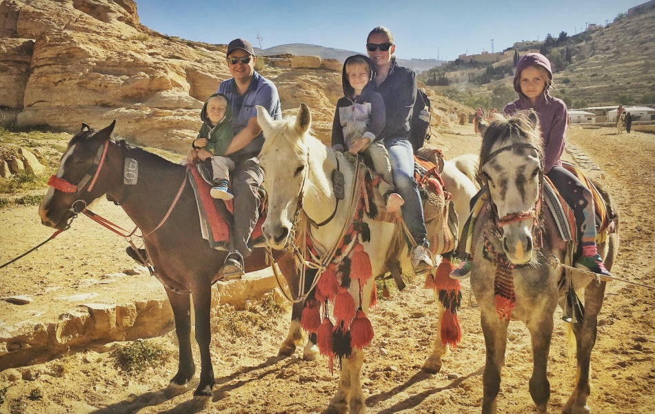 Keri Hedrick with her family in Jordan indulging their passion for travel | keri-consulting.com